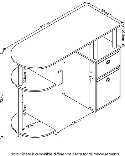 Furinno JAYA Simplistic Computer Study Desk - a good cheap modern office desk