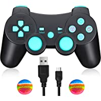 Manette PS3 Manette de jeu Bluetooth sans fil Joystick Playstation 3 Double choc, y compris le câble de charge
