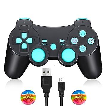 Mando PS3 Inalambrico Dualshock Controller Bluetooth con Función SIXAXIS y Doble Vibración para Sony Playstation 3