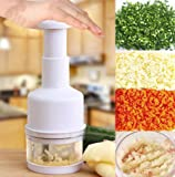 Stainless Steel Onion Vegetable Fruit Food Garlic Press Cutter Slicer Mincer Hand Pressing Chopper