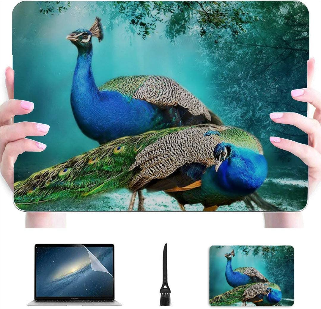 Amazon Com Laptop Cover Case Beautiful Peacock Pair Hd Wallpaper Bea Plastic Hard Shell Compatible Mac Air 13 Pro 13 16 Macbook Laptop Cover Protective Cover For Macbook 2016 2020 Version Computers Accessories
