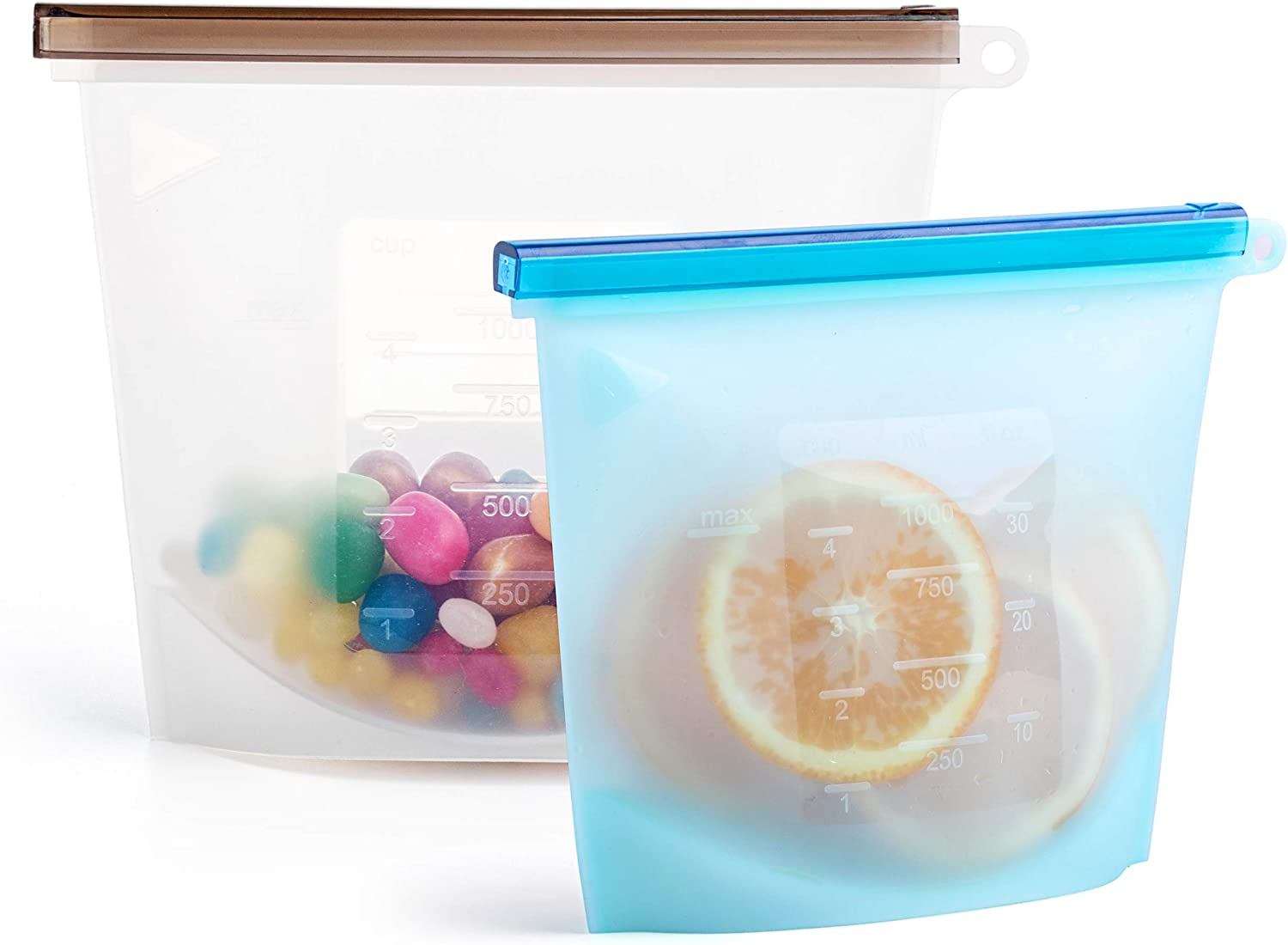 2 Silicone Bags Reusable Silicone Food Bag Reusable Sandwich Bags Reusable Bags Silicone Storage Freezer Containers