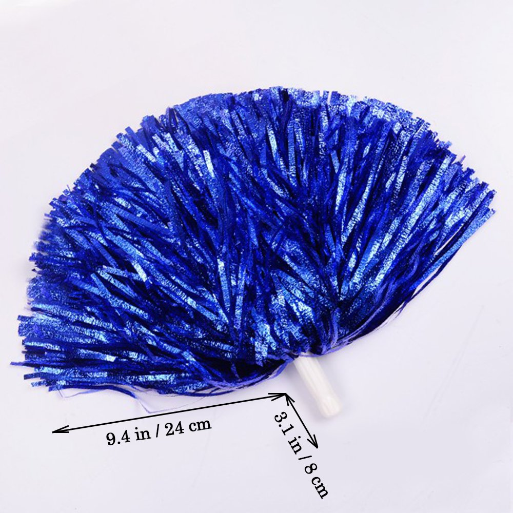 1 Dutzend Cheerleading Pompons, CRIVERS 12pc Cheerleader Pompoms für Ball Tanzen Schick Kleid Nacht Party Sports