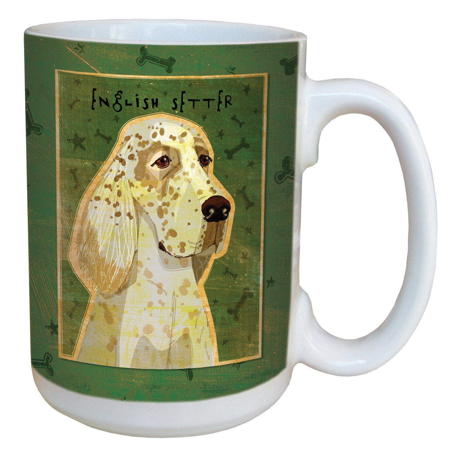 15-Ounce Tree-Free Greetings sg44038 English Setter by John W Golden Ceramic Mug with Full-Sized Handle