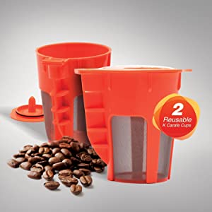 EZ BREW 2 Pack Reusable Carafe . Reusable coffee filter for the Keurig 2.0, K200, K300, K400, K500
