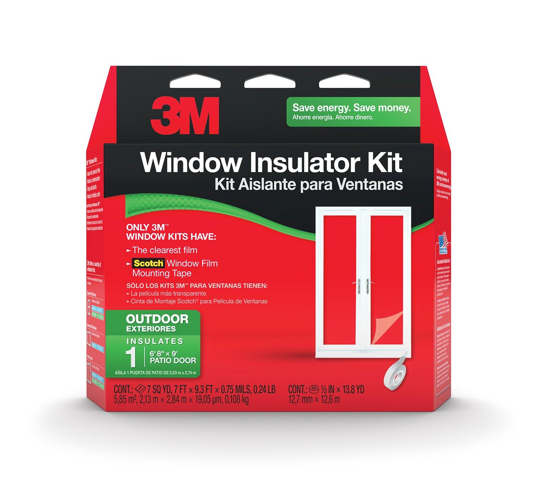 3M Outdoor Patio Door Insulator Kit, 7-Foot by 9.3-Foot (2174W-6) by 3M