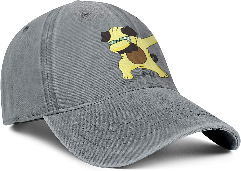 Dabbing Pug Funny Animals Unisex Baseball Cap Ultra Thin Running Caps Adjustable Trucker Caps Dad-Hat