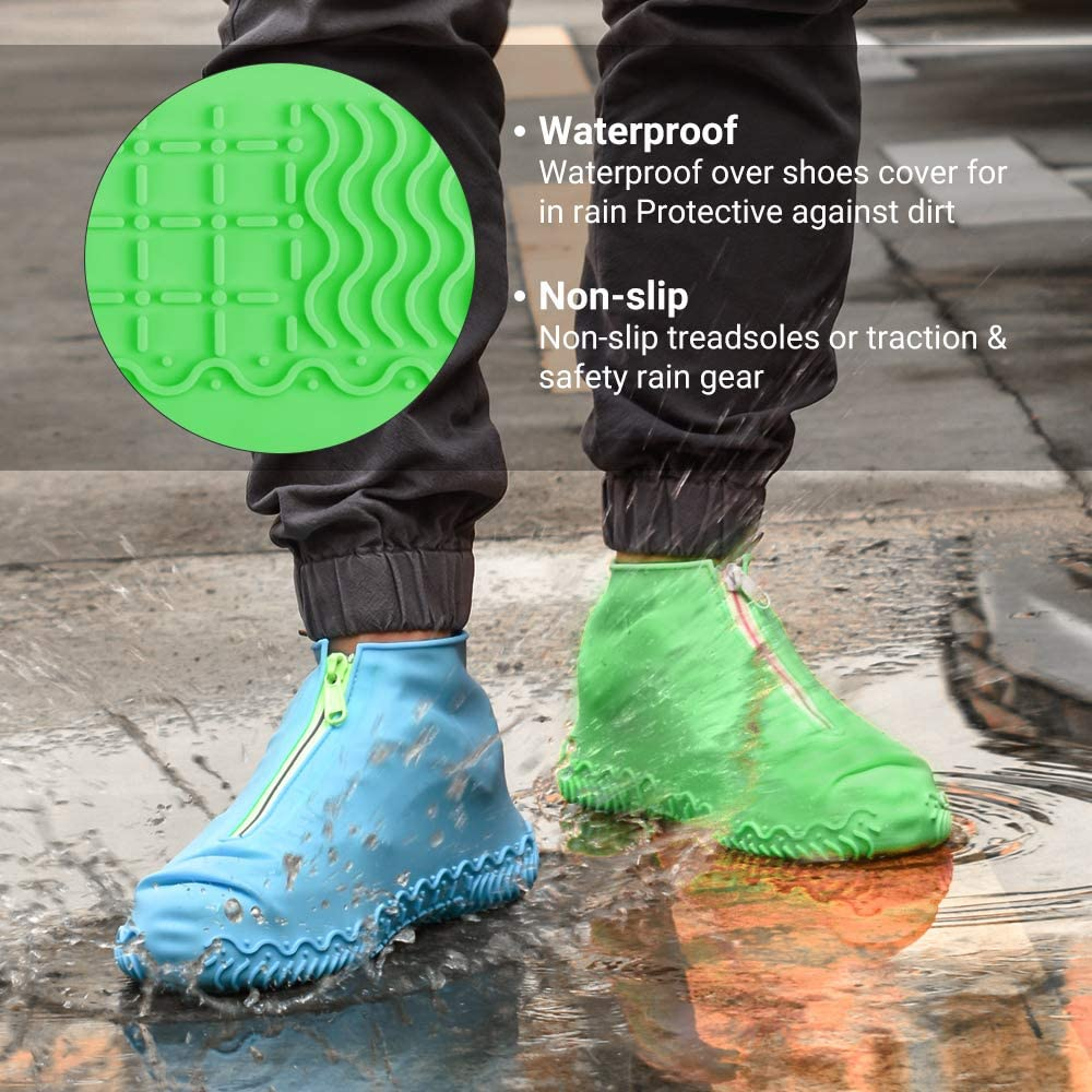 Boots Waterproof Shoe Cover Silicone Unisex Shoe Protective Rain Boots P3Y7