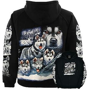 NisabellaLTD Siberian Wolf Esthetic Tumblr Husky White Men Women Unisex Hooded Sweatshirt Hoodie