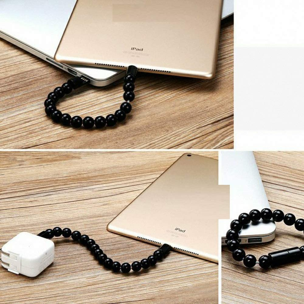 George zhang Buddhist Beads Bracelet-Type Charging Data Cable Creative Portable Decoration Bracelet Universal USB Charging Treasure Short line