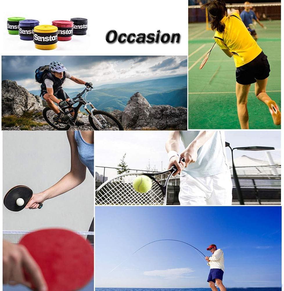 Senston 4//5 Pcs Raquette Grip Surgrip Overgrip Antid/érapant Anti Slip Badminton Tennis Squash Racket