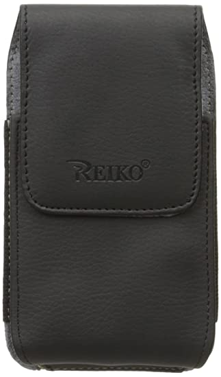 best website 586b4 b73f9 Reiko Compatible with Apple Iphone 5/5s pouch, Case leather with belt clip  holster