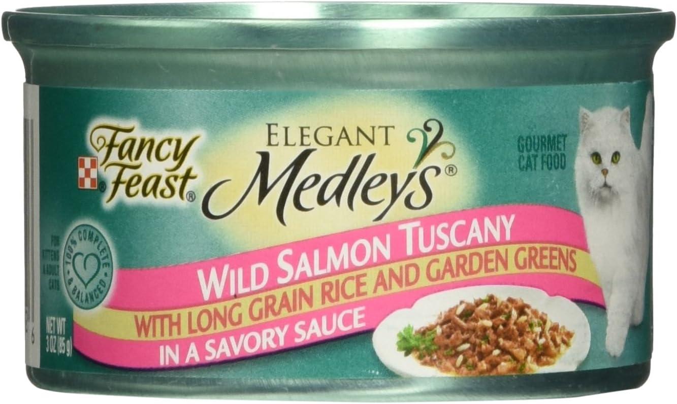 Purina Fancy Feast Elegant Medley Salmon Tuscany Food, 24 By 3 Oz.