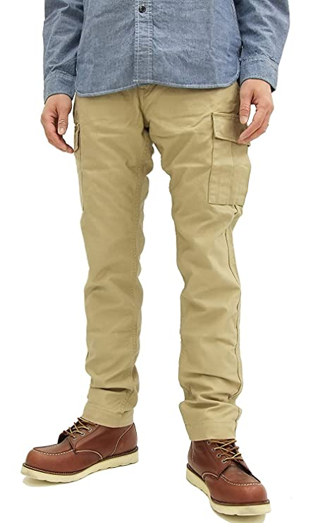 Japan Blue Jeans JB2402 Men's Slim Fit Cargo Pants Beige (32 inch)