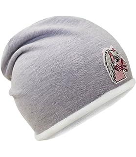 Fiebig Bonnet De Fille Jersey Calotte Cap Chapeau Mi-Saison Automne Cheval  Avec Doublure Polaire 6ea4bf7beef
