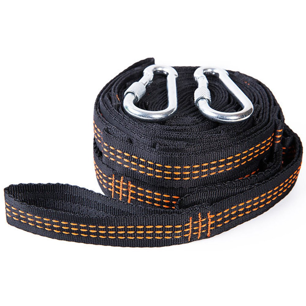 Day Gear Hammock Straps Portable Adjustable Hammock Tree - 10 Feet Long, Extra Strong & Lightweight, 2200 LBS Breaking Strength, No Stretch Polyester, 17 Adjustable Loops and 2 Carabiners