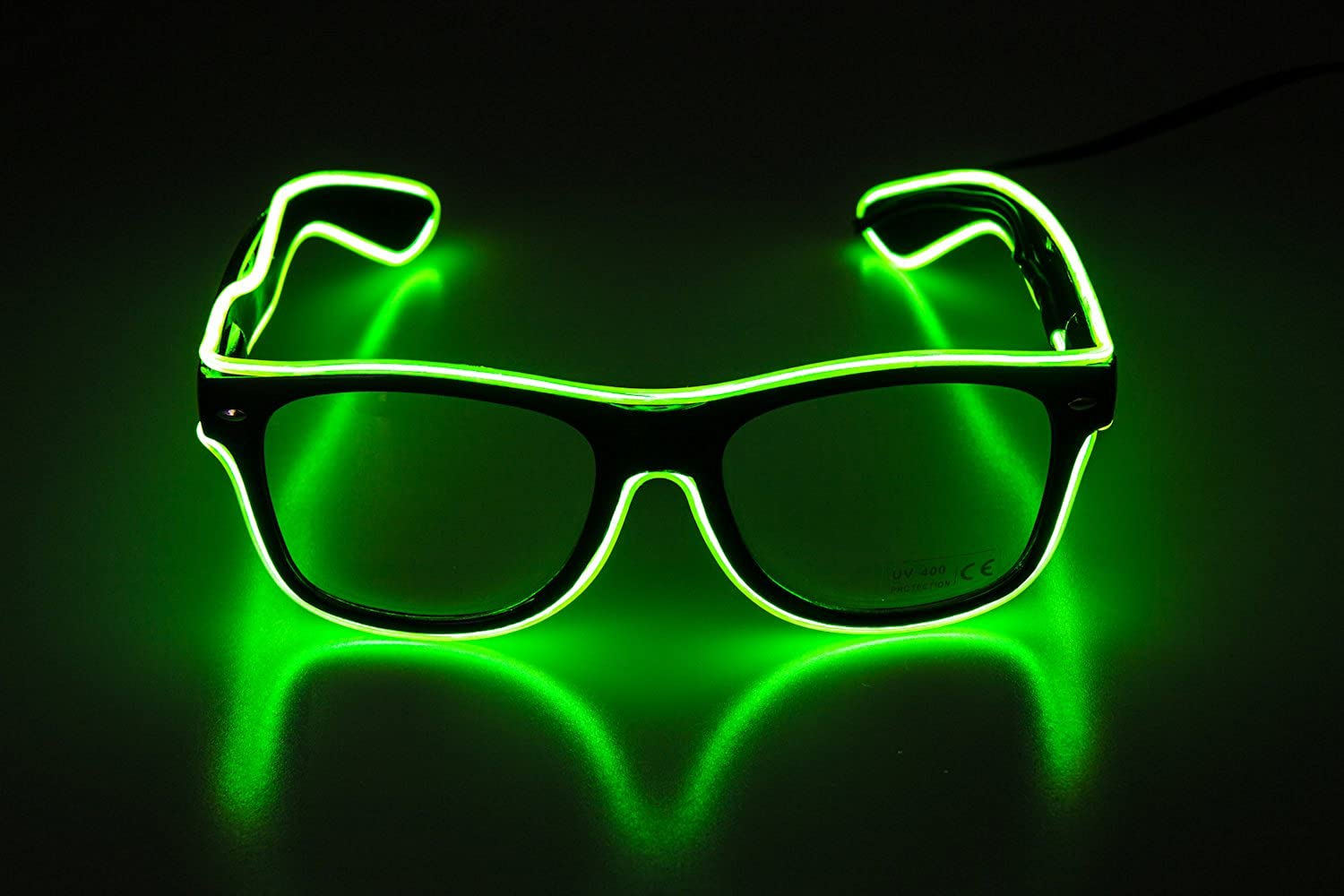 Glow Eye Glasses With Light Up Glasses El Wire Glowing Party Rave Glasses For Halloween,Party Favor