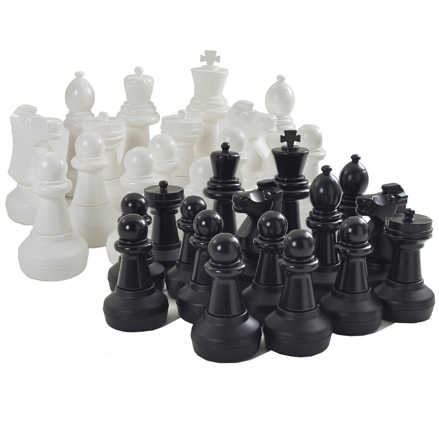 Garden Games Giant Chess Set Pieces, King Measures 64 Centimetres Tall, Base is 23 Centimetres in Diameter