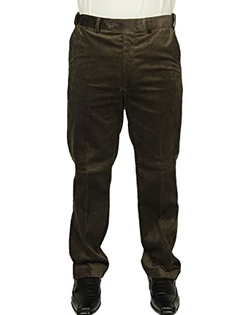 0b38b0dee27c MENS CORDUROY TROUSER CARABOU THICK GCORD IN BROWN COLOUR SIZES 32 TO 48  (46W x 31L): Amazon.co.uk: Clothing