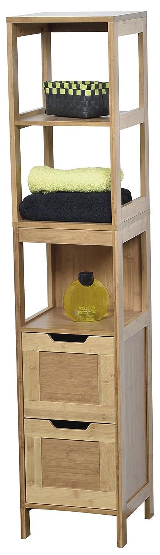 EVIDECO 9901195 Mahe Bathroom Free Standing Linen Tower Shelf
