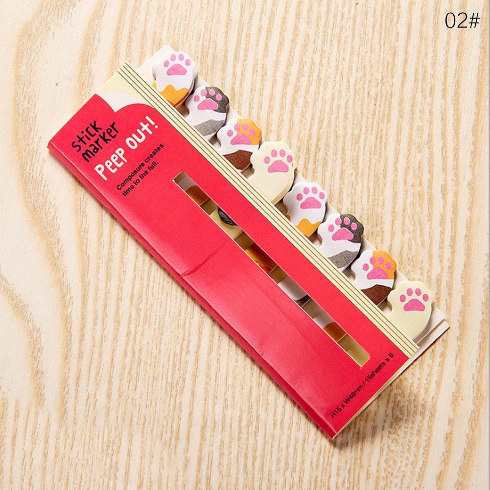 Notas y pegatinas bonitas de papeler/ía japonesa y material de papeler/ía coreano marcap/áginas de animales 12.5/×5cm 01#