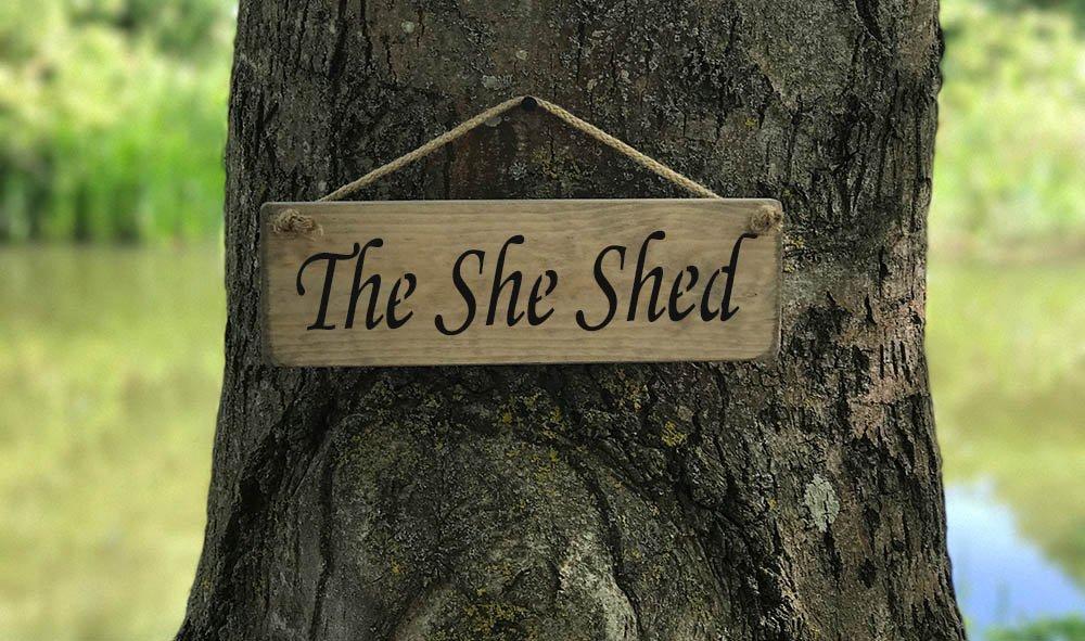The She Shed SIGN Solid Wood Home Decor kitchen Sign Plaque Handmade By Vintage Product Designer Austin Sloan Home Sign