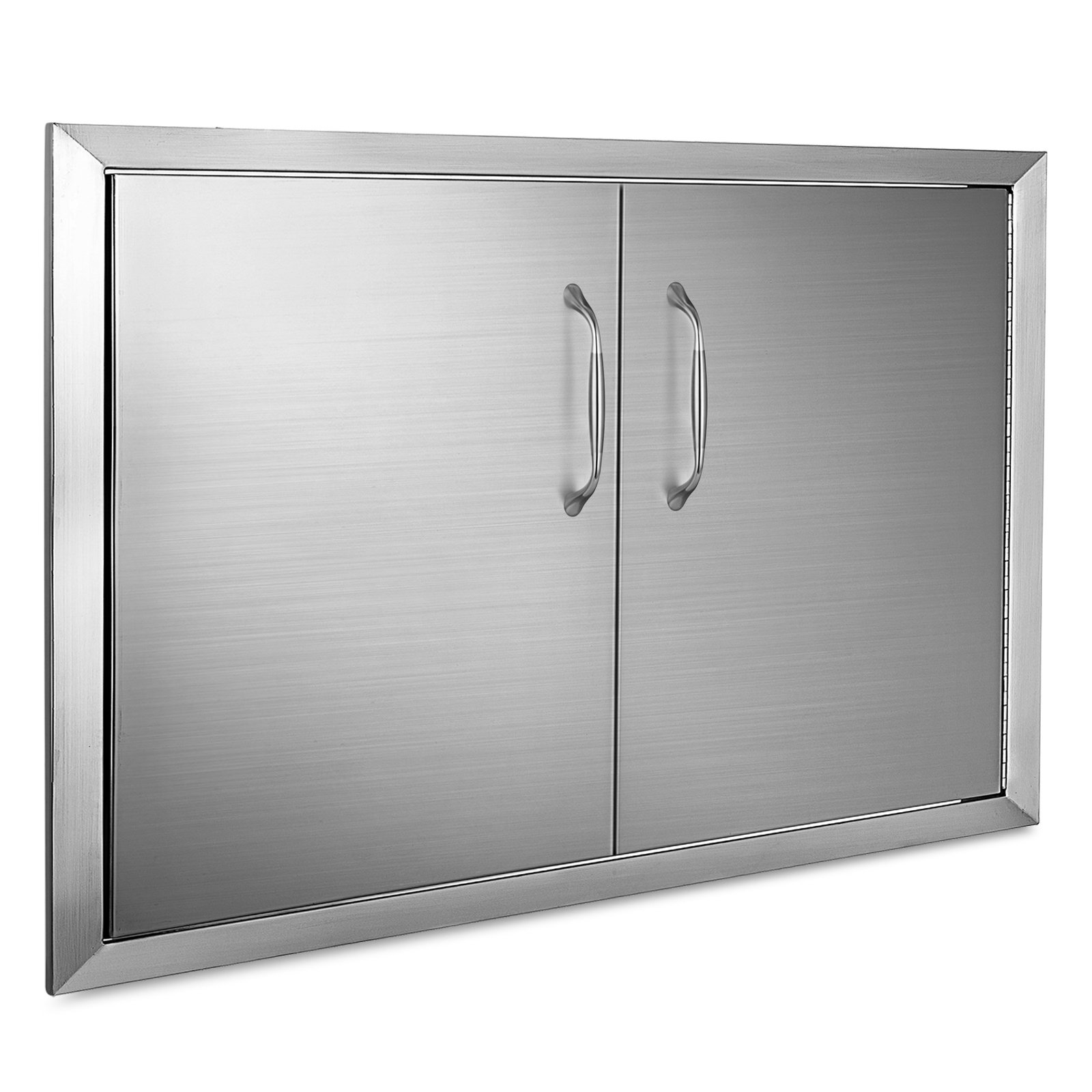 Mophorn Outdoor Kitchen Access Door 34'' x 19'' Double Wall Construction Stainless Steel Flush Mount for BBQ Island, 34inch x 19inch, by Mophorn