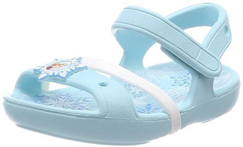 Crocs Lina Frozen, Sandali a Punta Aperta Bambina, Blu (Ice blu), 30/31 EU