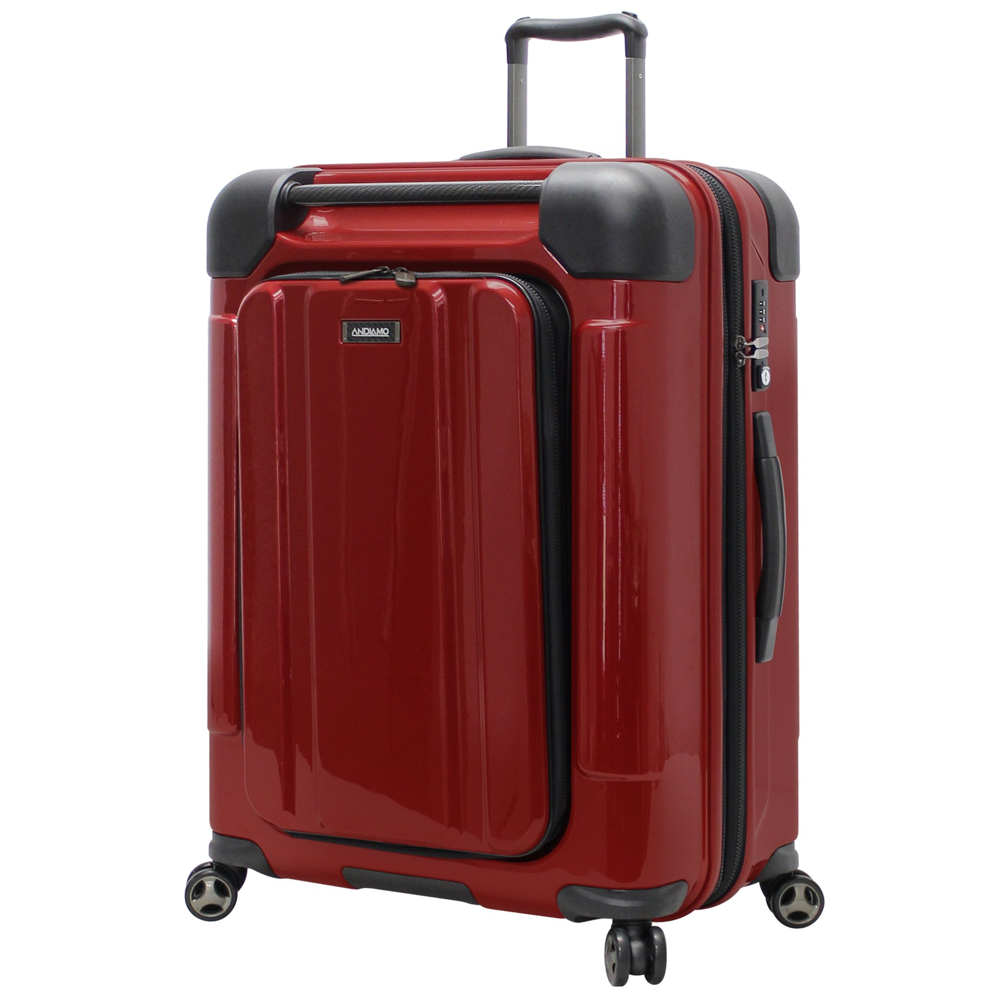 Andiamo Pantera Large Hard Case Luggage With Spinner Wheels (Lava Red)