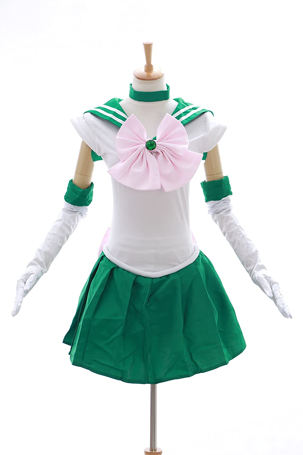 Kawaii-Story H de 6002 Sailor Moon Jupiter Verde Blanco Disfraz Cosplay  Vestido Dress Costume  Amazon.es  Ropa y accesorios 235564057fcf
