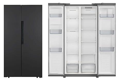 PKM SBS 440.4A+NF B Side by Side - Congelador de nevera y ...