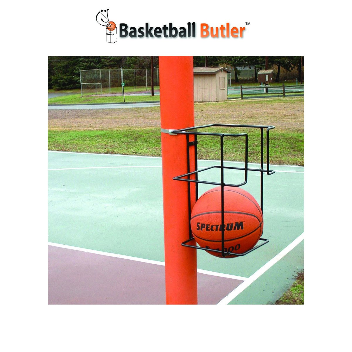Basketball Butler 2 Ball Storage Rack S&S Worldwide