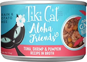 Tiki Cat Aloha Friends Grain & Potato Free Canned Wet Food 5.5 oz. Cans (Pack of 8)