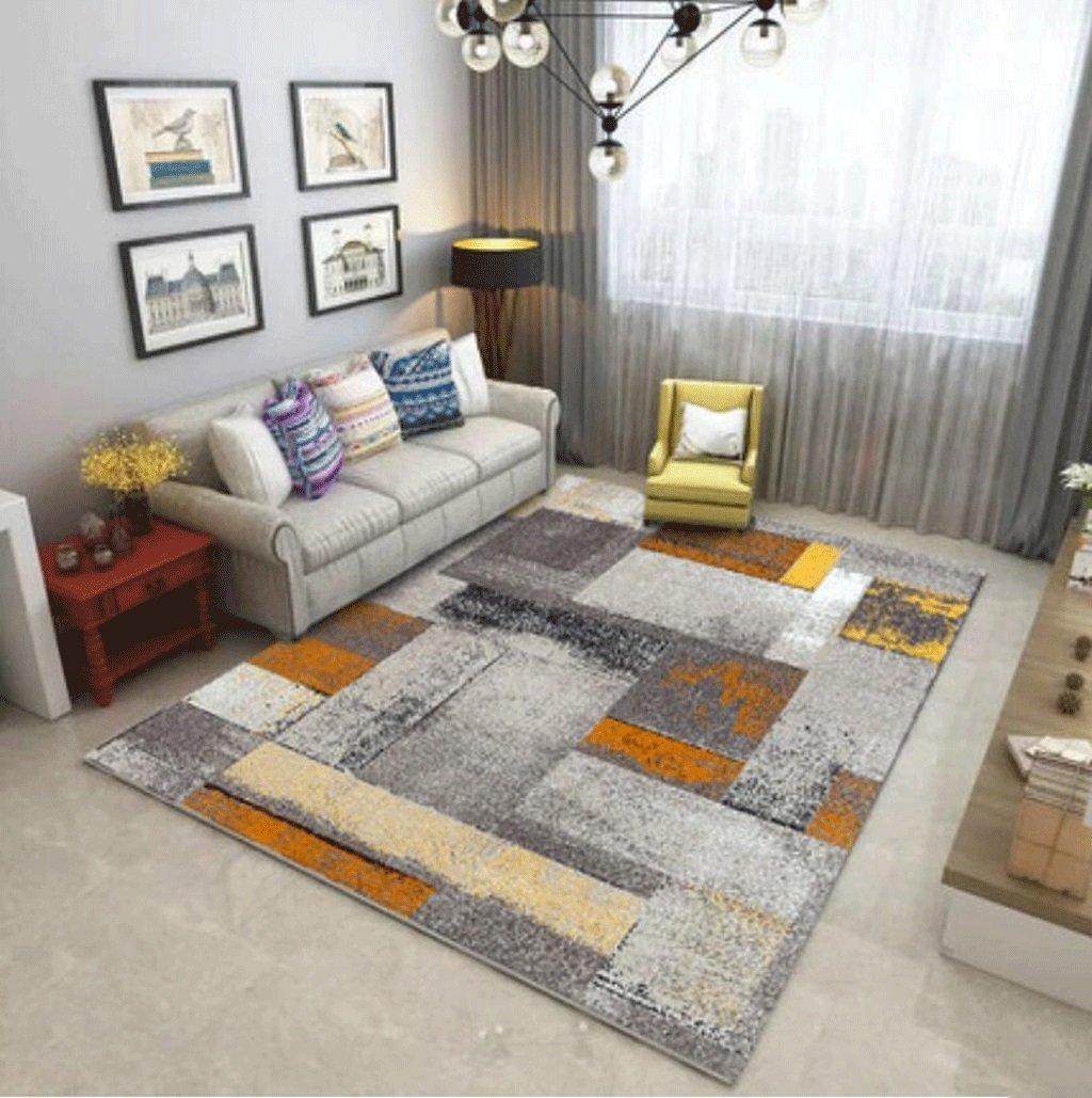 Odefc WYQzz Europäischen Stil Wohnzimmer Teppich Sofa Tisch Pad Schlafzimmer Nacht Halle voll Shop rechteckigen minimalistischen modernen amerikanischen Teppich (Farbe   L, größe   2.0m3.0m+Doormat)