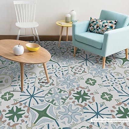 Amazon Hexagon Floor Tile Sticker For Kitchen Bathroom