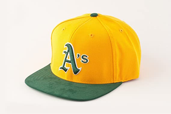 62c5a6d73cb MLB Oakland Athletics Suedehead Gold Green Snapback Adjustable Cap ...