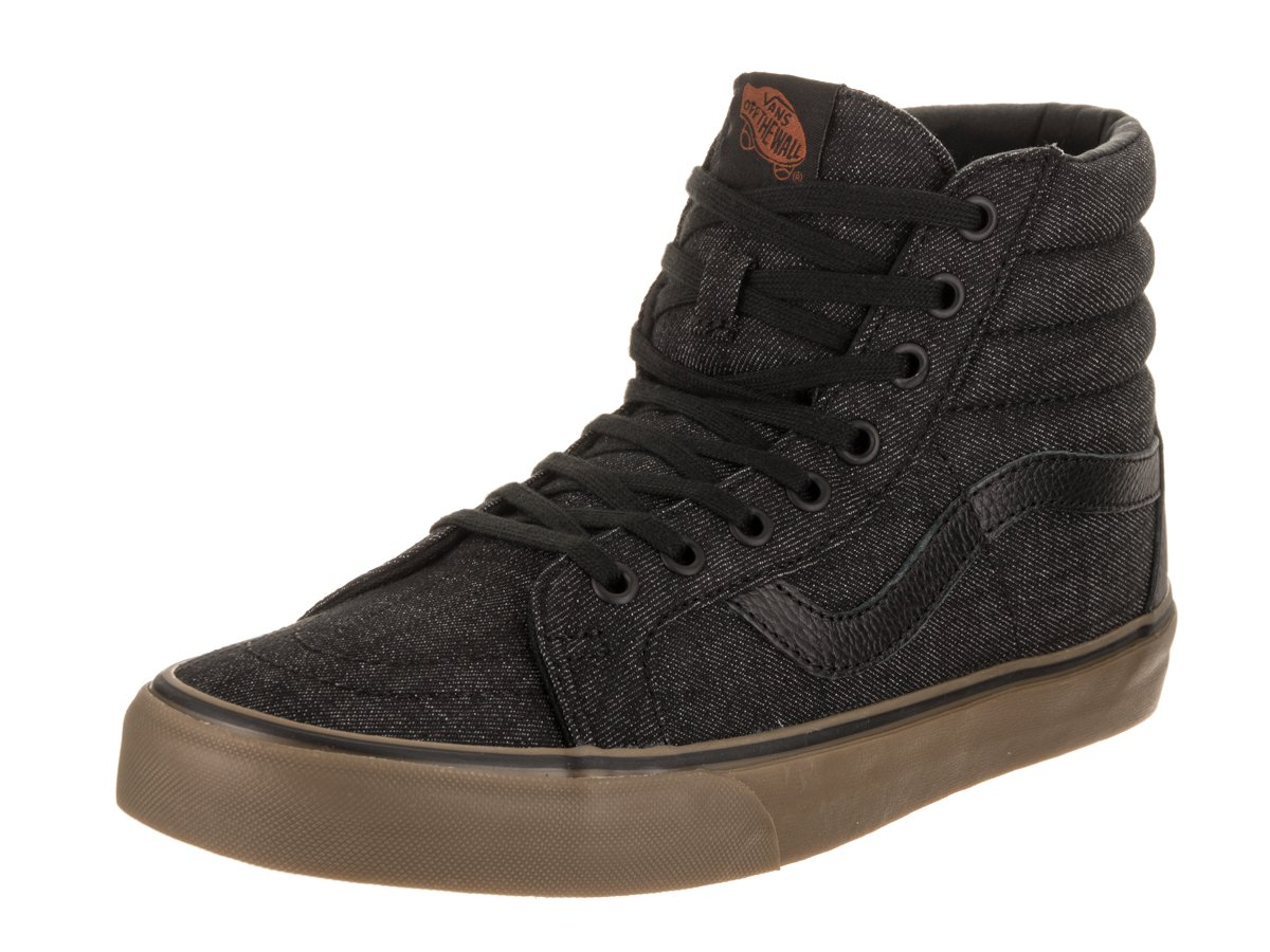 ba42e0a9fa12b3 Galleon - Vans Unisex Sk8-Hi Reissue(Denim C L) Black Gum Skate Shoe 8 Men  US 9.5 Women US