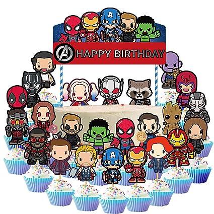 25 decoraciones para tartas de los Vengadores, superhéroes ...