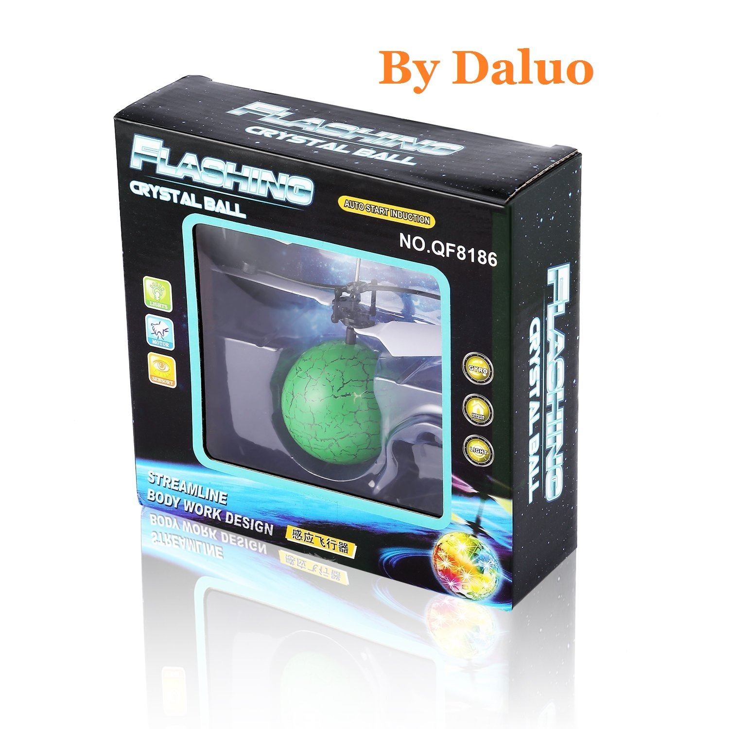 Flying Ball, Daluo Children Flying Toys, RC infrared Induction Helicopter Ball Built-in Shinning Color Changing LED Lighting for Kids, Teenagers (Flying Ball) fly001
