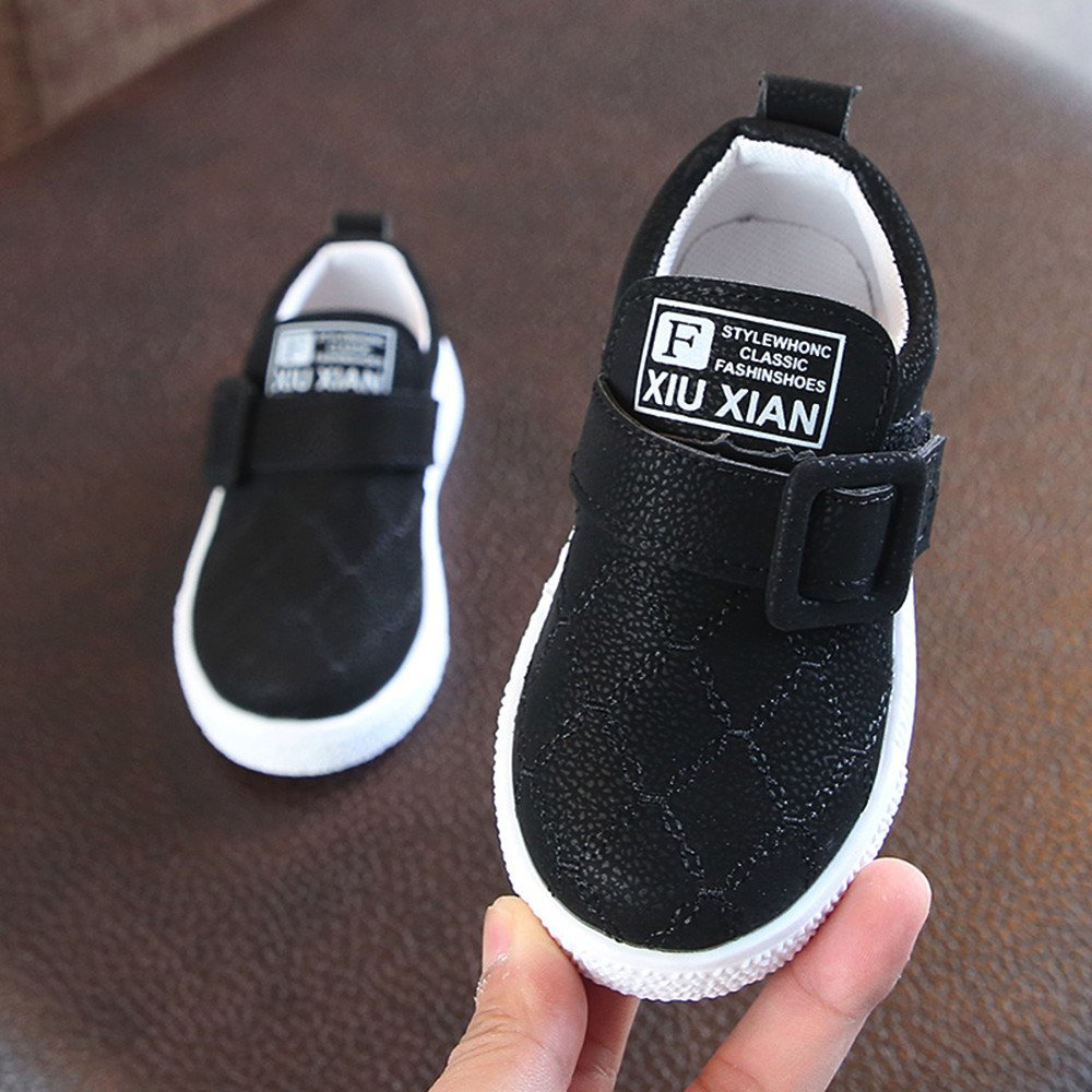 Cloudro Baby Shoes Soft Anti-Slip Hook/&Loop Casual Flat Shoes for Little Boy Girl