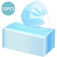 Disposable Face Mask, Splash Prevention Protective, Cleaning, DIY, Construction, Home Use, Woodworking, Mowing & More, 3-Ply Ear Loop 50 Pcs, by Ashnna