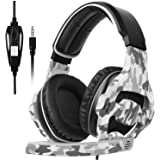Gaming Headset for PS4,PS5, PC, Xbox One, Surround Sound Over-Ear Headphones with Noise Cancelling Mic, Soft Comfort Earmuffs