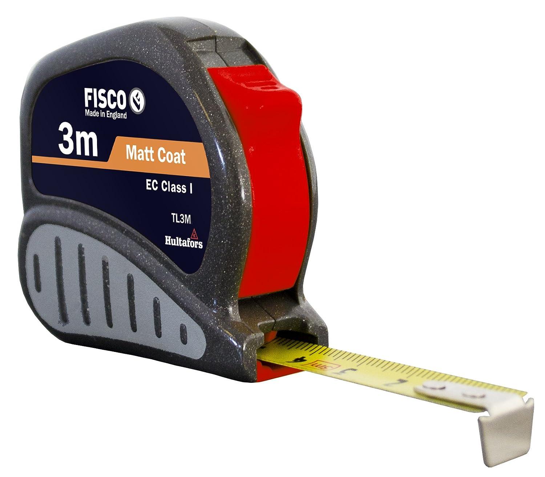 Fisco Tri-Lok Profi-Rollbandma/ß Gummigriff L/änge 3/m ABS Klasse I Breite 13/mm