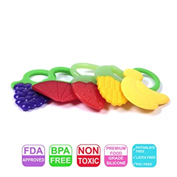 Amazon.com   Mammas Club Baby Fruit Teether Toys fdba7f627