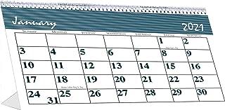 product image for House of Doolittle 2021 Monthly Desktop Tent Calendar, Bar Harbor, 7 x 4.25 Inches, January - December (HOD3679-21), White