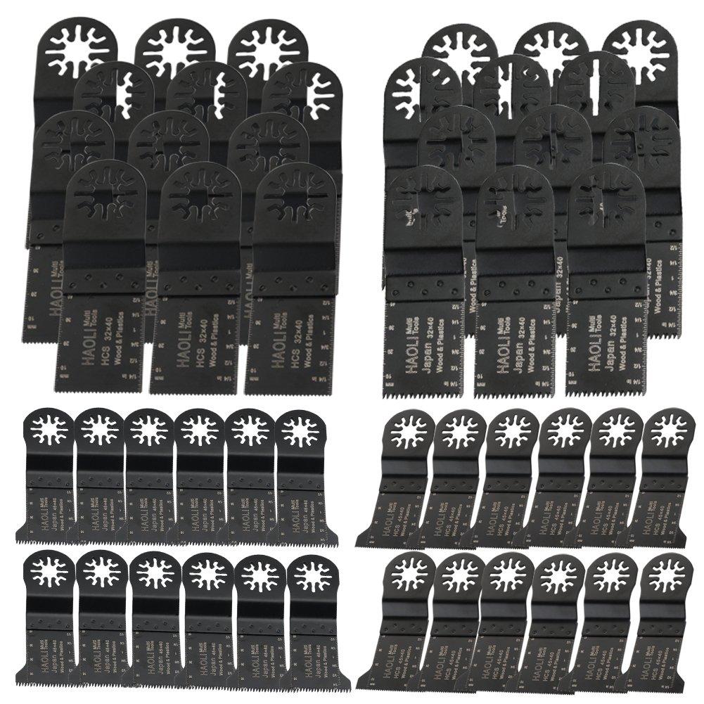 HAOLI Oscillating Tool Saw Blades For Fein Multimaster,Dremel,Bosch Makita,Einhell,Skil (Not valid for Bosch star lock) (HL50-1)