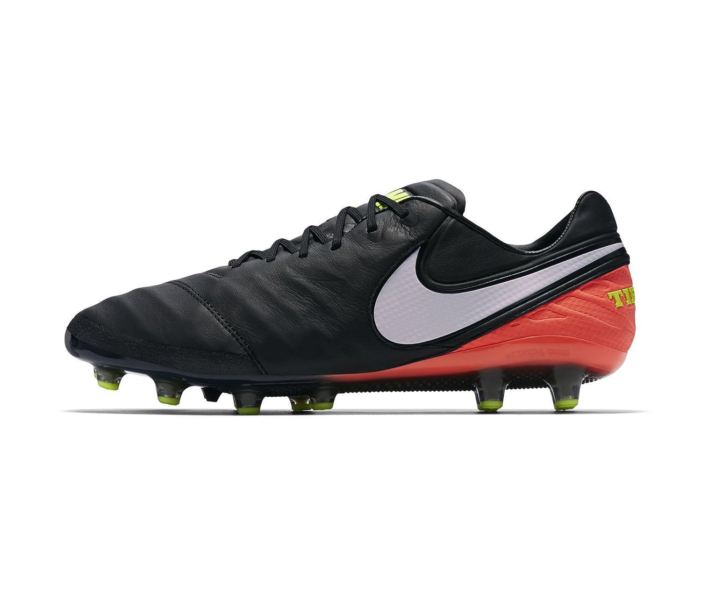 best service 7b59f cdb45 Amazon.com   Nike Tiempo Legend VI AG-Pro Mens Football Boots 844593 Soccer  Cleats (US 7, Black White Hyper Orange 018)   Soccer