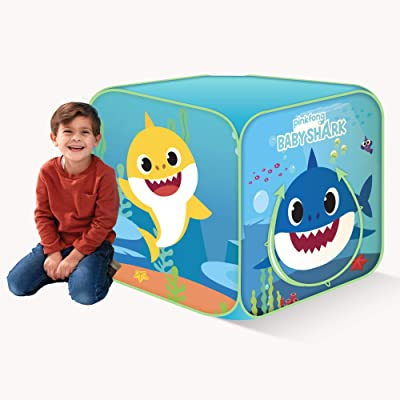 Basic Fun Playhut Pinkfong Baby Shark Classic Cube Pop-Up Play Tent Preschool Gift for Kids: Toys & Games