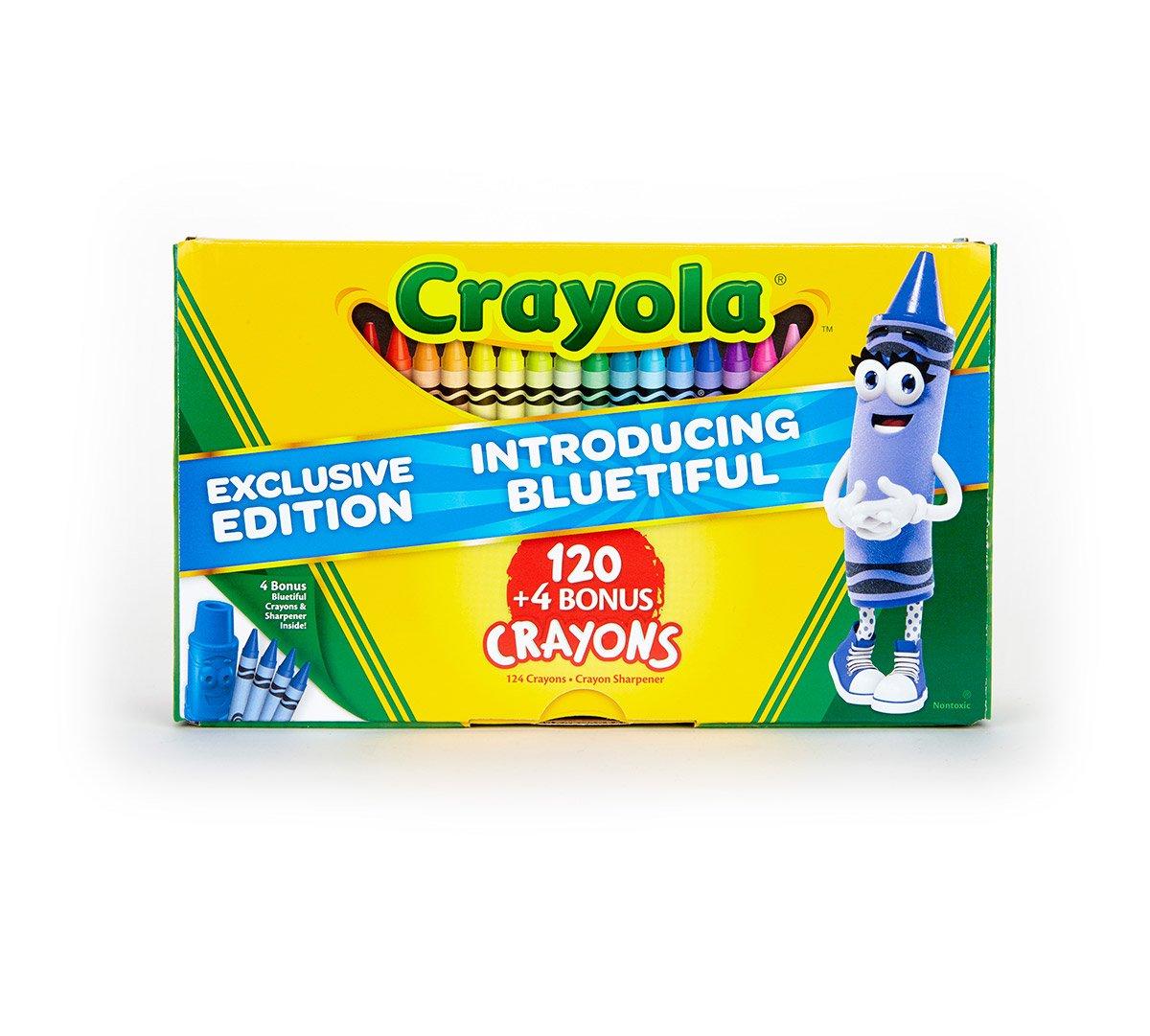 Crayola 124 count Crayons with Bluetiful