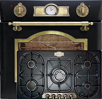 Juego de cocina de gas Autark Kaiser Empire Black/Horno eléctrico ...